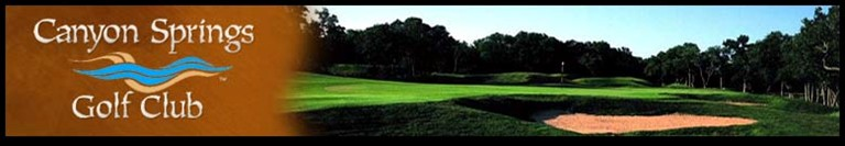 Canyon Springs golf package